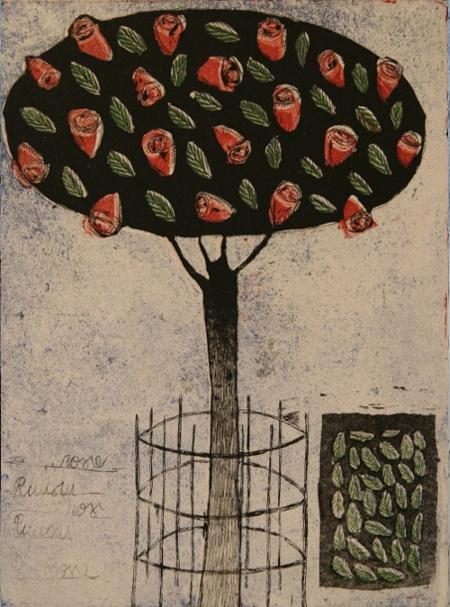 Puisto ruusu puu