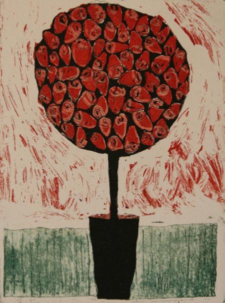 Ruukku ruusu puu